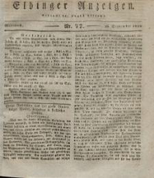 Elbinger Anzeigen, Nr. 77. Mittwoch, 26. September 1832