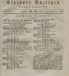 Elbinger Anzeigen, Nr. 78. Sonnabend, 29. September 1832