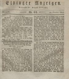 Elbinger Anzeigen, Nr. 81. Mittwoch, 10. Oktober 1832