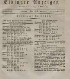 Elbinger Anzeigen, Nr. 82. Sonnabend, 13. Oktober 1832