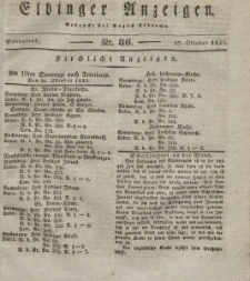 Elbinger Anzeigen, Nr. 86. Sonnabend, 27. Oktober 1832