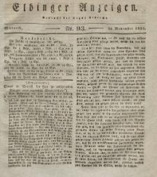 Elbinger Anzeigen, Nr. 93. Mittwoch, 21. November 1832