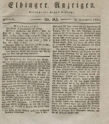 Elbinger Anzeigen, Nr. 95. Mittwoch, 28. November 1832
