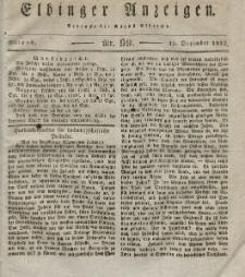 Elbinger Anzeigen, Nr. 99. Mittwoch, 12. Dezember 1832