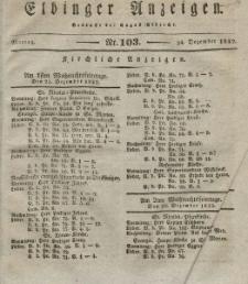 Elbinger Anzeigen, Nr. 103. Montag, 24. Dezember 1832