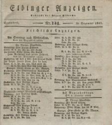 Elbinger Anzeigen, Nr. 104. Sonnabend, 29. Dezember 1832