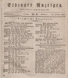 Elbinger Anzeigen, Nr. 8. Sonnabend, 26. Januar 1833