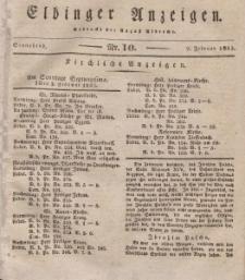 Elbinger Anzeigen, Nr. 10. Sonnabend, 2. Februar 1833