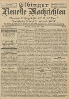 Elbinger Neueste Nachrichten, Nr. 66 Dienstag 19 März 1912 64. Jahrgang