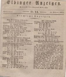 Elbinger Anzeigen, Nr. 14. Sonnabend, 16. Februar 1833