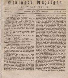 Elbinger Anzeigen, Nr. 25. Mittwoch, 27. März 1833