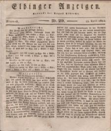 Elbinger Anzeigen, Nr. 29. Mittwoch, 10. April 1833