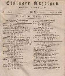 Elbinger Anzeigen, Nr. 30. Sonnabend, 13. April 1833