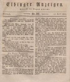 Elbinger Anzeigen, Nr. 31. Mittwoch, 17. April 1833