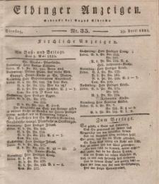 Elbinger Anzeigen, Nr. 35. Dienstag, 30. April 1833