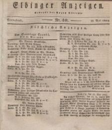 Elbinger Anzeigen, Nr. 40. Sonnabend, 18. Mai 1833