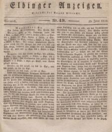 Elbinger Anzeigen, Nr. 49. Mittwoch, 19. Juni 1833