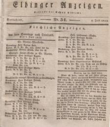 Elbinger Anzeigen, Nr. 54. Sonnabend, 6. Juli 1833