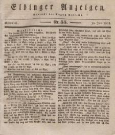 Elbinger Anzeigen, Nr. 55. Mittwoch, 10. Juli 1833