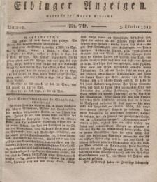 Elbinger Anzeigen, Nr. 79. Mittwoch, 2. Oktober 1833