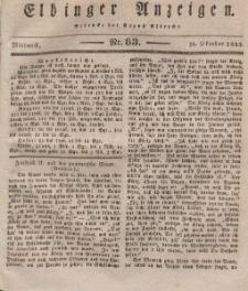 Elbinger Anzeigen, Nr. 83. Mittwoch, 16. Oktober 1833