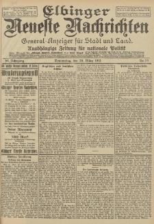 Elbinger Neueste Nachrichten, Nr. 74 Donnerstag 28 März 1912 64. Jahrgang
