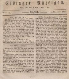 Elbinger Anzeigen, Nr. 93. Mittwoch, 20. November 1833