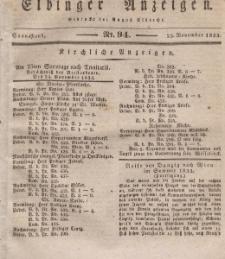 Elbinger Anzeigen, Nr. 94. Sonnabend, 23. November 1833