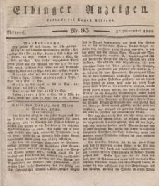 Elbinger Anzeigen, Nr. 95. Mittwoch, 27. November 1833