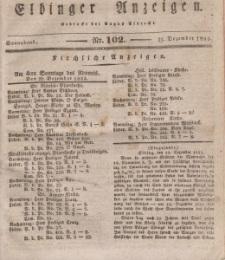 Elbinger Anzeigen, Nr. 102. Sonnabend, 21. Dezember 1833