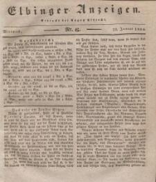 Elbinger Anzeigen, Nr. 6. Mittwoch, 22. Januar 1834