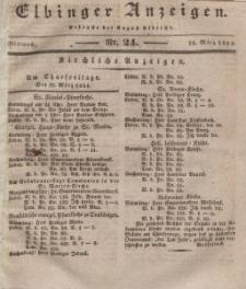 Elbinger Anzeigen, Nr. 24. Mittwoch, 26. März 1834