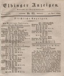 Elbinger Anzeigen, Nr. 31. Sonnabend, 19. April 1834