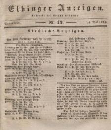 Elbinger Anzeigen, Nr. 43. Sonnabend, 31. Mai 1834