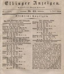 Elbinger Anzeigen, Nr. 45. Sonnabend, 7. Juni 1834