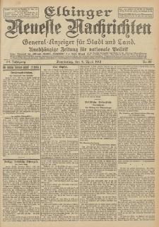 Elbinger Neueste Nachrichten, Nr. 80 Donnerstag 4 April 1912 64. Jahrgang