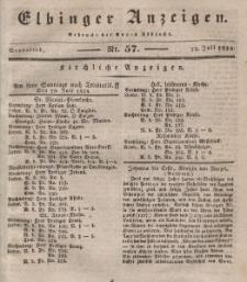 Elbinger Anzeigen, Nr. 57. Sonnabend, 19. Juli 1834