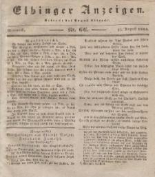 Elbinger Anzeigen, Nr. 66. Mittwoch, 20. August 1834