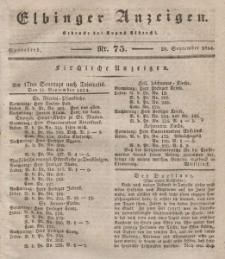 Elbinger Anzeigen, Nr. 75. Sonnabend, 20. September 1834