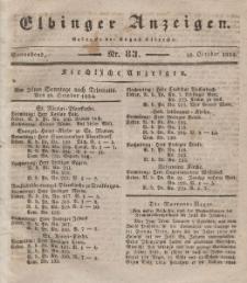 Elbinger Anzeigen, Nr. 83. Sonnabend, 18. Oktober 1834