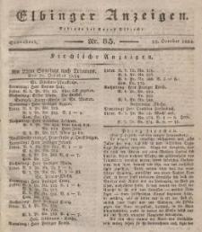 Elbinger Anzeigen, Nr. 85. Sonnabend, 25. Oktober 1834