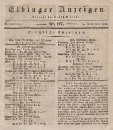 Elbinger Anzeigen, Nr. 97. Sonnabend, 6. Dezember 1834