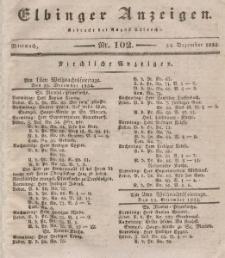 Elbinger Anzeigen, Nr. 102. Mittwoch, 24. Dezember 1834