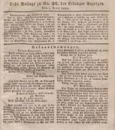 Elbinger Anzeigen, Nr. 26. Mittwoch, 1. April 1835