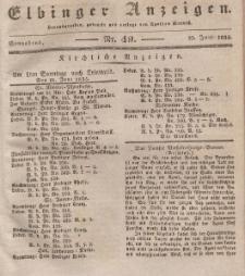 Elbinger Anzeigen, Nr. 49. Sonnabend, 20. Juni 1835