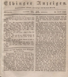 Elbinger Anzeigen, Nr. 50. Mittwoch, 24. Juni 1835