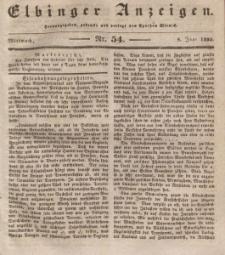 Elbinger Anzeigen, Nr. 54. Mittwoch, 8. Juli 1835