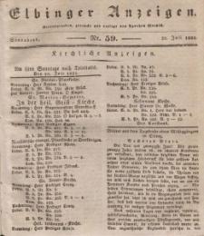 Elbinger Anzeigen, Nr. 59. Sonnabend, 25. Juli 1835