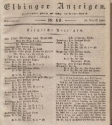 Elbinger Anzeigen, Nr. 69. Sonnabend, 29. August 1835