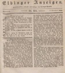 Elbinger Anzeigen, Nr. 80. Mittwoch, 7. Oktober 1835